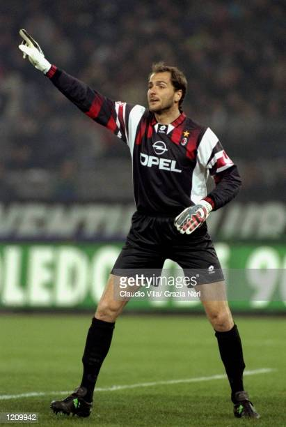 AC Milan keeper Sebastiano Rossi during the Serie A match against Juventus at the Stadio Delle Alpi in Turin Italy Mandatory Credit Claudio Villa...