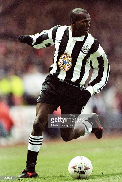 Faustino Asprilla of Newcastle United in action during an FA Carling Premiership match against Middlesbrough at the Riverside Stadium in...