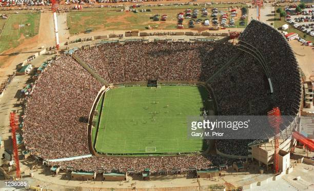 General View of the FNB Stadium during the African Cup of Nations Final between South Africa and Tunisia South Africa won 20 Mandatory Credit Gary M...