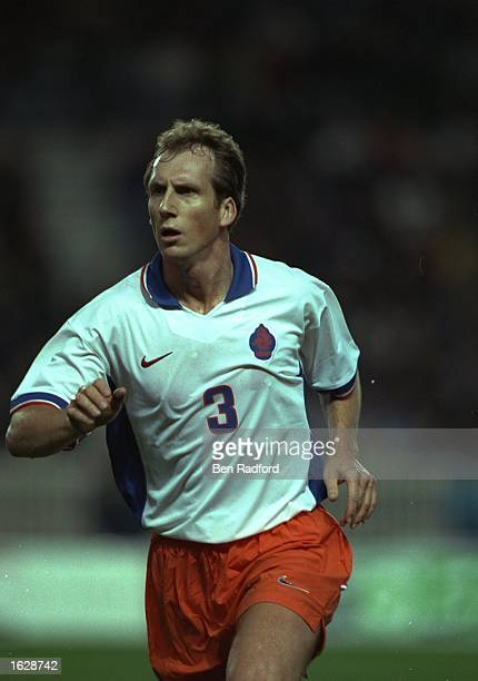 Japp Stam of Holland in action during a Friendly match against France at Parc des Princes in Paris France won the match 21 Mandatory Credit Ben...