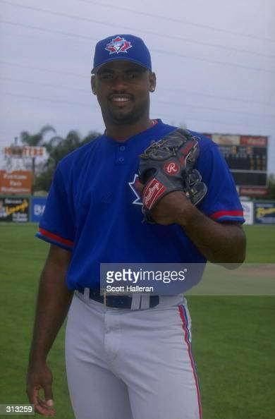 Pitcher Kelvim Escobar of the Toronto Blue Jays in action during a spring training game against the Philadelphia Phillies at the Jack Russell...