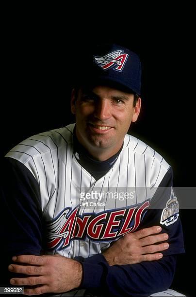 Steve Scarsone of the Anaheim Angels at Spring Training at the Tempe Diablo Stadium in Tempe Arizona