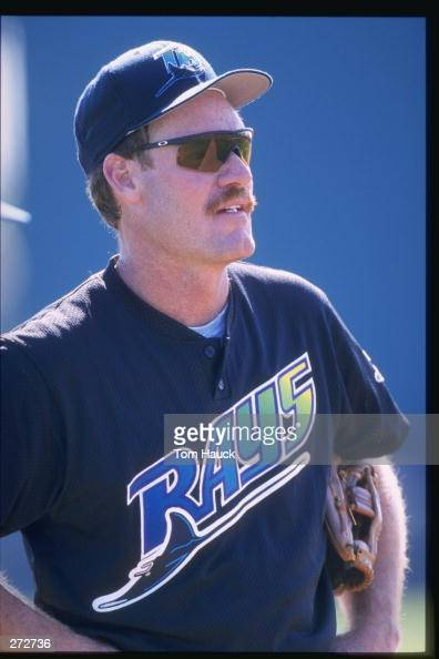 Wade Boggs of the Tampa Bay Devil Rays looks on during photo day at Al Lang Stadium in St Petersburg Florida Mandatory Credit Tom Hauck /Allsport