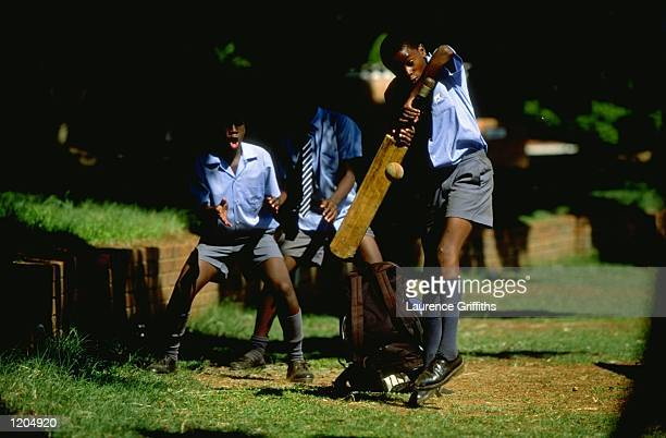 A general view of local children playing cricket during the England A tour of Zimbabwe in Harare Zimbabwe Mandatory Credit Laurence Griffiths...