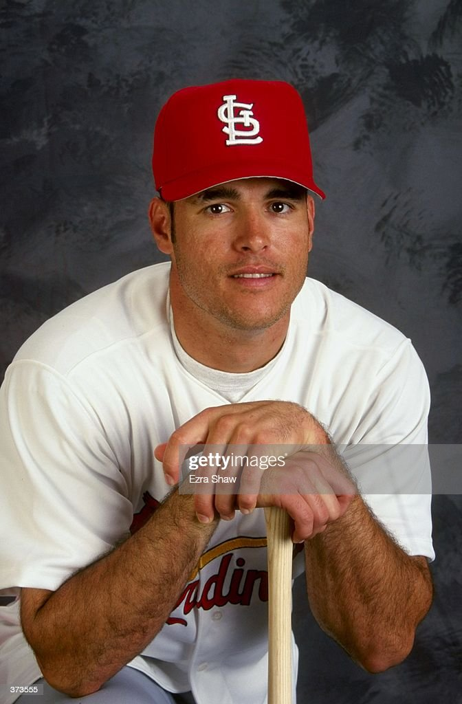 Catcher Eli Marrero of the St Louis Cardinals poses for a studio portrait on Photo Day during Spring Training at the Roger Dean Stadium in Jupiter...