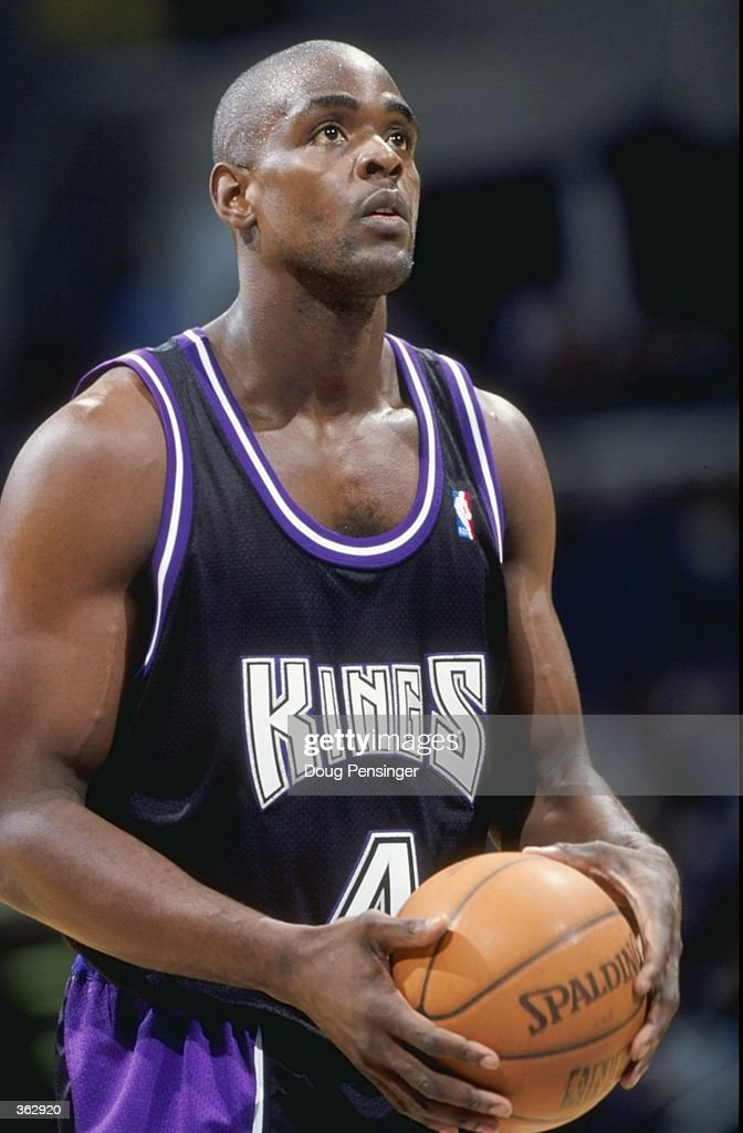 Chris Webber of the Sacramento Kings getting ready to take a free throw during the game against the Washington Wizards at the MCI Center in...