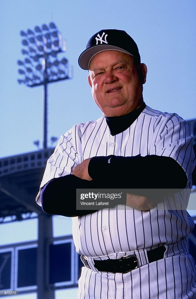 Coach <a gi-track='captionPersonalityLinkClicked' href=/galleries/search?phrase=Don+Zimmer&family=editorial&specificpeople=215376 ng-click='$event.stopPropagation()'>Don Zimmer</a> #50 of the New York Yankees poses for the camera on Photo Day during Spring Training at Legends Field in Tampa, Florida. Mandatory Credit: Vincent Laforet /Allsport