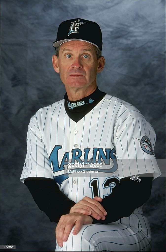 Coach John Boles of the Florida Marlins poses for a studio portrait on Photo Day during Spring Training at the Space Coast Stadium in Melbourne...