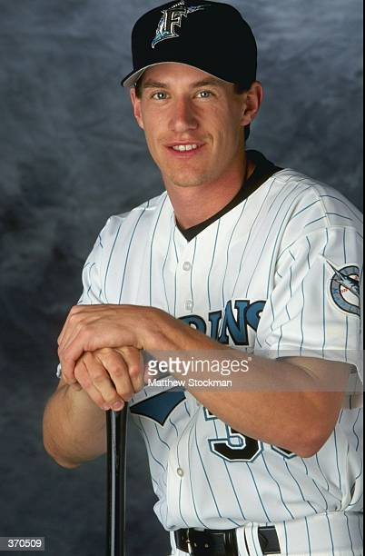 Infielder Craig Counsell of the Florida Marlins poses for a studio portrait on Photo Day during Spring Training at the Space Coast Stadium in...