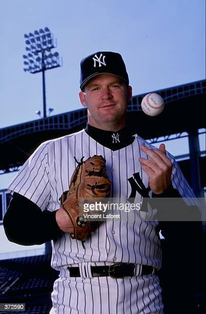 Pitcher Mike Stanton of the New York Yankees poses for the camera on Photo Day during Spring Training at Legends Field in Tampa Florida Mandatory...