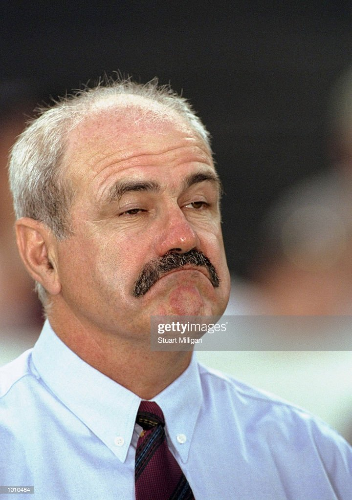 Portrait of a glum looking Brisbane coach Leigh Matthews after his Brisbane Lions lost to Hawthorn in the Ansett Cup Quarter finals at Waverley Park, Hawthorn, Victoria, Australia. \ Mandatory Credit: Stuart Milligan /Allsport