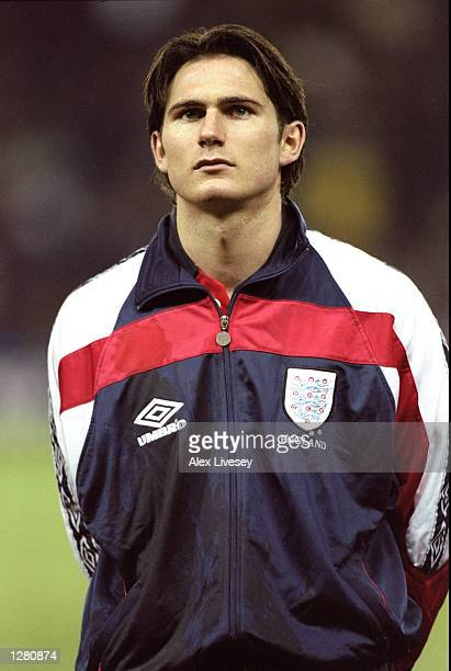 Portrait of Frank Lampard of England lining up for the U21 Friendly International against France at Pride Park in Derby England England won 21...