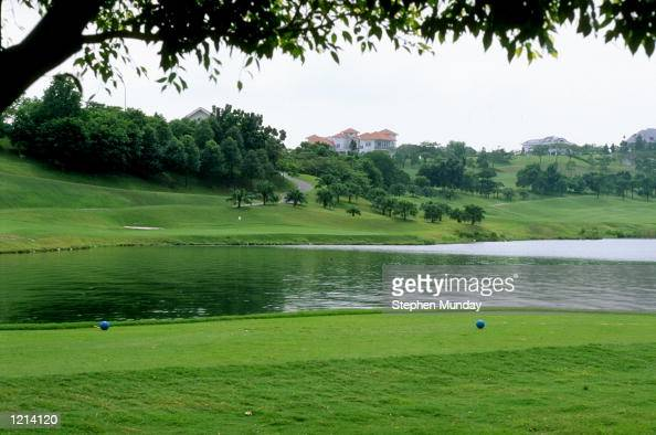The par 3 16th hole at the Mines GC Clubhouse in Kuala Lumper Malaysia Mandatory Credit Stephen Munday /Allsport