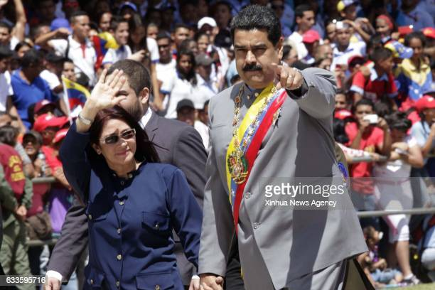 CARACAS Feb 2 2017 Venezuelan President Nicolas Maduro takes part in the parade in commemoration of a national hero General Ezequiel Zamora in...