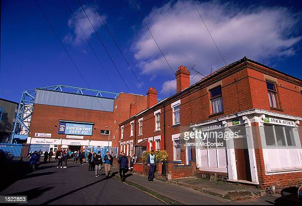 General view of Coventry City`s ground Highfield Road in Coventry England Mandatory Credit Jamie McDonald/Allsport