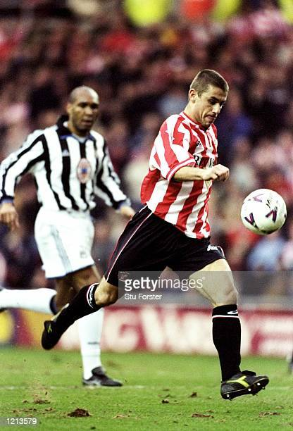 Kevin Phillips of Sunderland in action during the FA Carling Premiership match against Newcastle played at the Stadium of Light in Sunderland England...