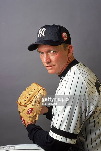 Pitcher David Cone of the New York Yankees poses for a studio portrait during Spring Training Photo Day in Tampa Florida