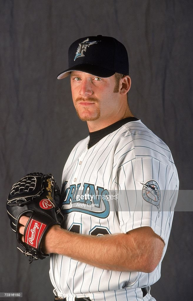 Pitcher <a gi-track='captionPersonalityLinkClicked' href=/galleries/search?phrase=Ryan+Dempster&family=editorial&specificpeople=211606 ng-click='$event.stopPropagation()'>Ryan Dempster</a> #46 of the Florida Marlins poses for a studio portrait during Spring Training Photo Day in Viera, Florida. Mandatory Credit: Andy Lyons /Allsport
