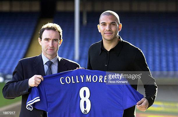 10 Feb 2000 Stan Collymore and Martin O''Neill at the press conference called to confirm his signing for Leicester City Leicester City Filbert St...