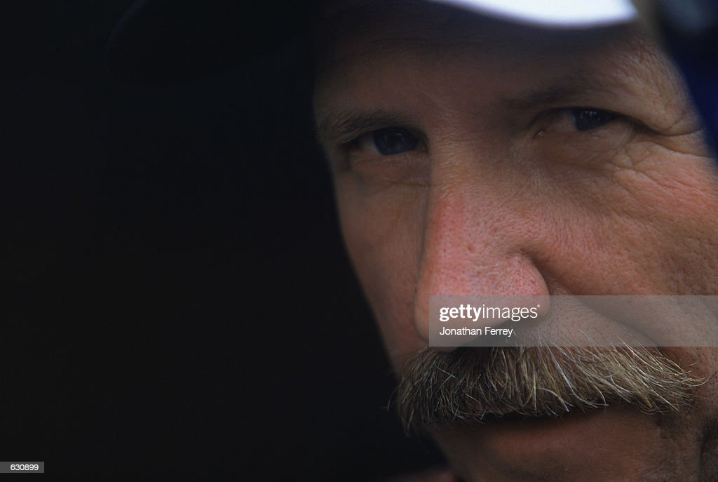 A close up of Dale Earnhardt looking out of the #3 Chevy Monte Carlo for Richard Childress Racing during the Daytona 500 Speedweeks, part of the NASCAR Winston Cup Series at the Daytona International Speedway in Daytona, Florida.Mandatory Credit: Jon Ferrey /Allsport