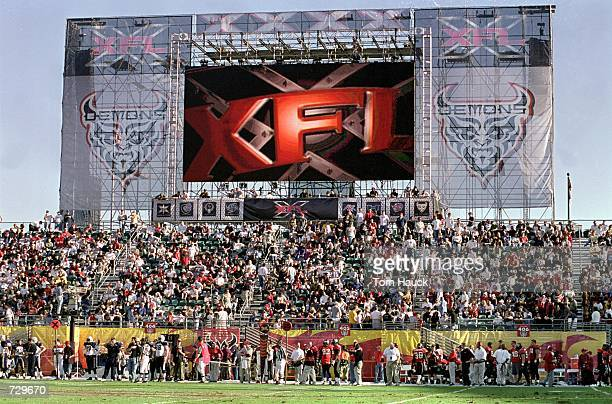 A general view of the game between the Los Angeles Xtreme and the San Francisco Demons at the Pac Bell Stadium in San Francisco California The Demons...