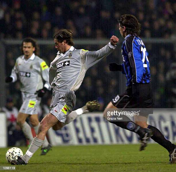 Alessio Tacchinardi of Juventus in action during the Atalanta v Juventus Serie A match played at the Azzurri d''Italia Stadium Bergamo Mandatory...