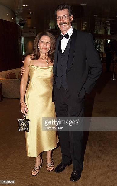 Australian Cricket Coach John Buchanan wife Judith arrive at the Allan Border Medal Presentation held at Crown Casino in Melbourne Australia X...