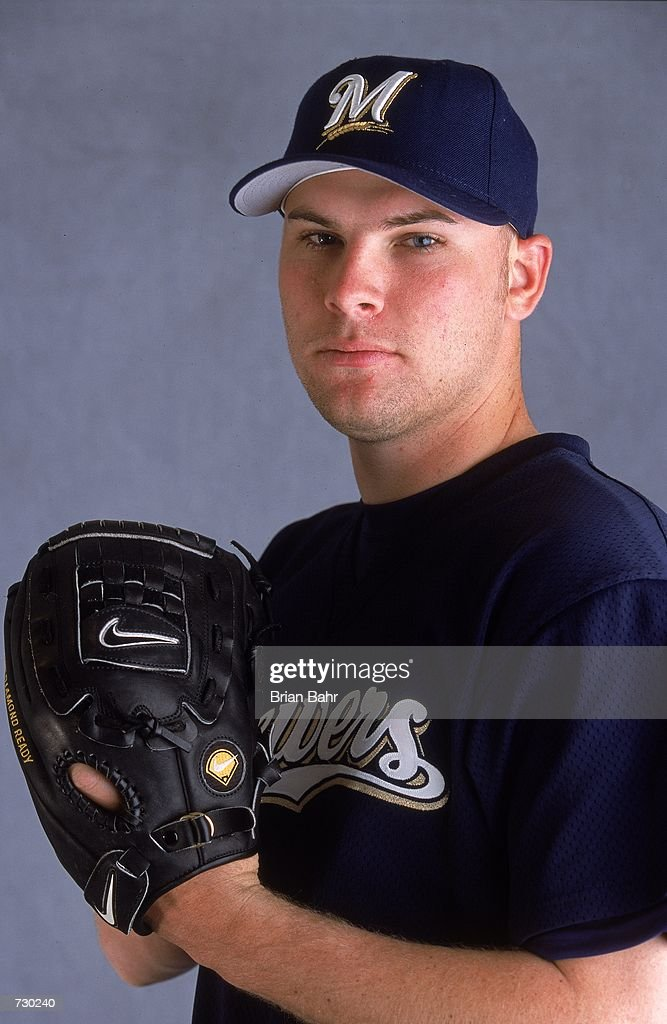 Ben Sheets of the Milwaukee Brewers poses for a studio portrait during Spring Training at Maryvale Baseball Park in Phoenix ArizonaMandatory Credit...
