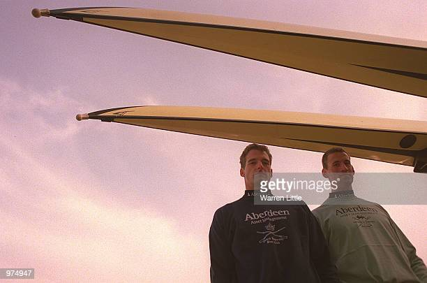 Dan Snow President of Oxford University and Kieran West the President of Cambridge University seen during the President's Challenge and Crew...