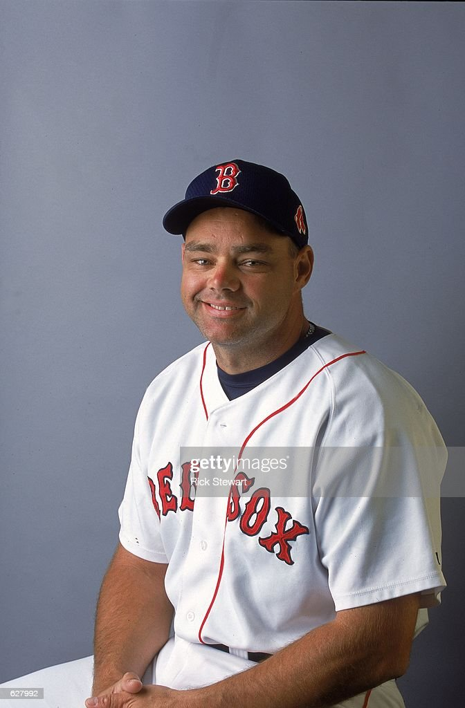 Dante Bichette #19 of the Boston Red Sox poses for a studio portrait during Spring Training at City of Palms Park in Fort Myers, Florida.Mandatory Credit: Rick Stewart /Allsport