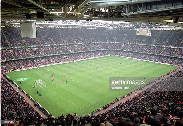 General view of the Millennium Stadium during the Worthington Cup Final match between Liverpool and Birmingham City played at the Millennium Stadium...
