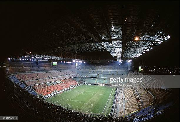 General view of the San Siro Stadium in Milan Italy Mandatory Credit Jamie McDonald /Allsport
