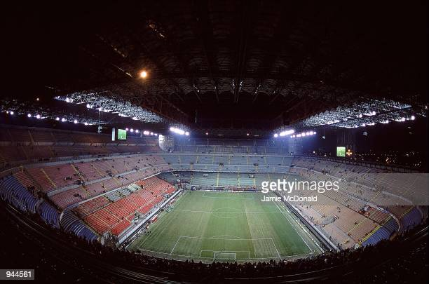 General view of the San Siro Stadium in Milan Italy Mandatory Credit Jamie McDonald /Allsport