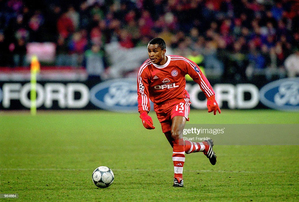 Paulo Sergio of Bayern Munich runs with the ball during the UEFA Champions League Group C match against Spartak Moscow played at the Olympic Stadium...