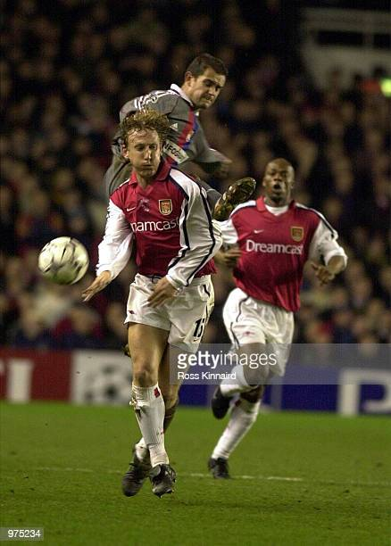 Ray Parlour of Arsenal in action during the UEFA Champions League match between Arsenal and Olympique Lyonnais at Highbury London Mandatory Credit...
