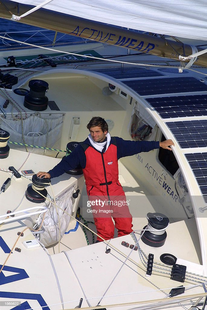ThMartinez Vendee Globe 2000 Finish 15h20 50miles offshore Les Sables Marc Thiercelin 'ACTIVEWEAR' 50 miles of the finish line Marc should finish 4th...