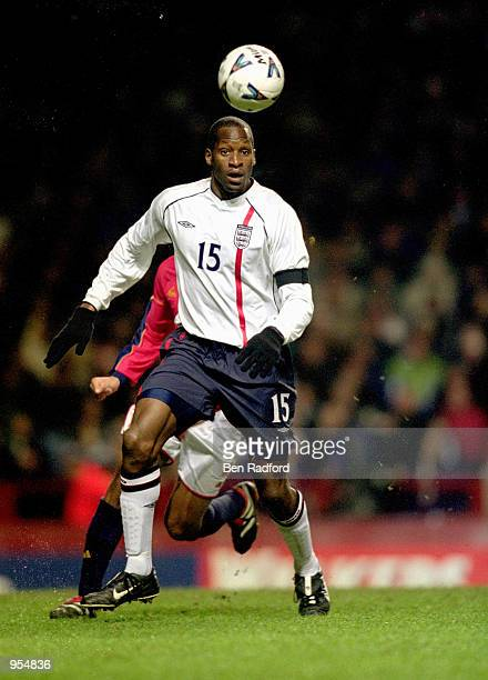 Ugo Ehiogu of England in action during the International Friendly against Spain played at Villa Park in Birmingham England England won the match with...