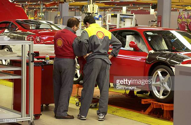 A general view of the Ferrari engineers at work in the Ferrari factory in Maranello Italy DIGITAL IMAGE Mandatory Credit Allsport UK/Getty Images