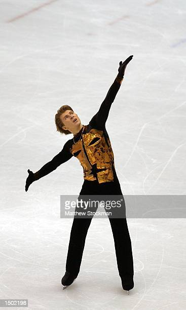 Alexei Yagudin of Russia competes in the men's free program during the Salt Lake City Winter Olympic Games at the Salt Lake Ice Center in Salt Lake...