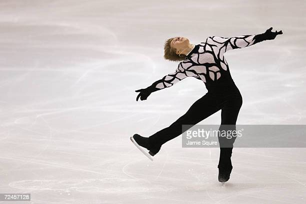 Alexei Yagudin of Russia competes in the men's short program during the Salt Lake City Winter Olympic Games at the Salt Lake Ice Center in Salt Lake...