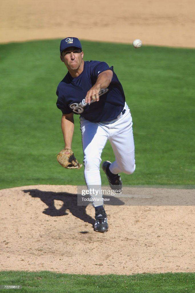 Andrew Lorraine of the Milwaukee Brewers during the Spring Training Game against the Oakland A's in Maryvale Arizona The A's won 1613 DIGITAL IMAGE...
