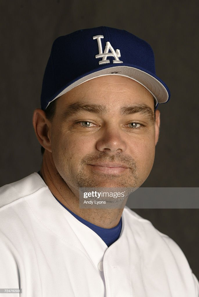 Dante Bichette #6 of the Los Angeles Dodgers is pictured during the Dodgers media day at at their spring training facility in Vero Beach , Florida. DIGITAL