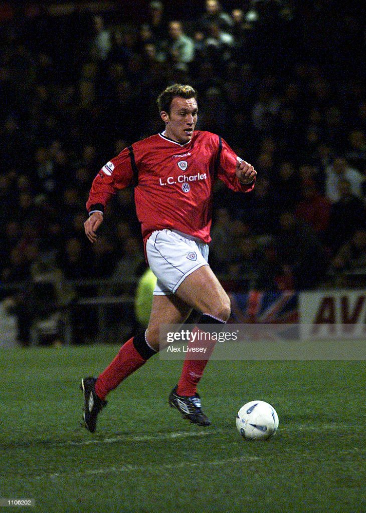 Dean Ashton of Crewe Alexandra charges through during the AXA sponsored FA Cup fifth round replay match between Crewe Alexandra and Everton played at...