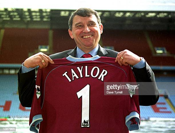 Graham Taylor shows his true colours at a press conference to announce that Taylor has been appointed as the new manager of Aston Villa The press...