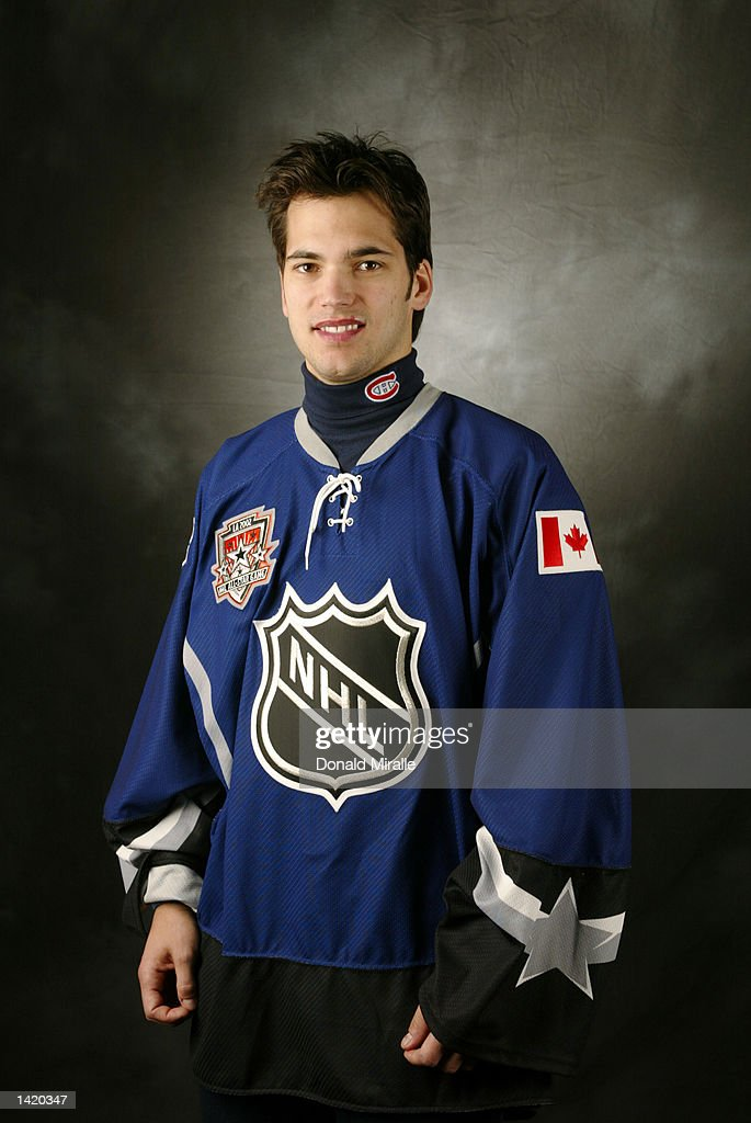 Jose Theodore of the North American Team poses for a portrait in his All Star jersey during NHL All Star week in Los Angeles, California. DIGITAL IMAGE Mandatory Credit: Donald Miralle/Getty Images/NHLI