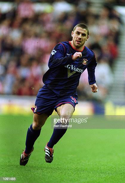 Kevin Phillips of Sunderland in action during the FA Barclaycard Premiership match against Derby County played at Pride Park in Derby England...