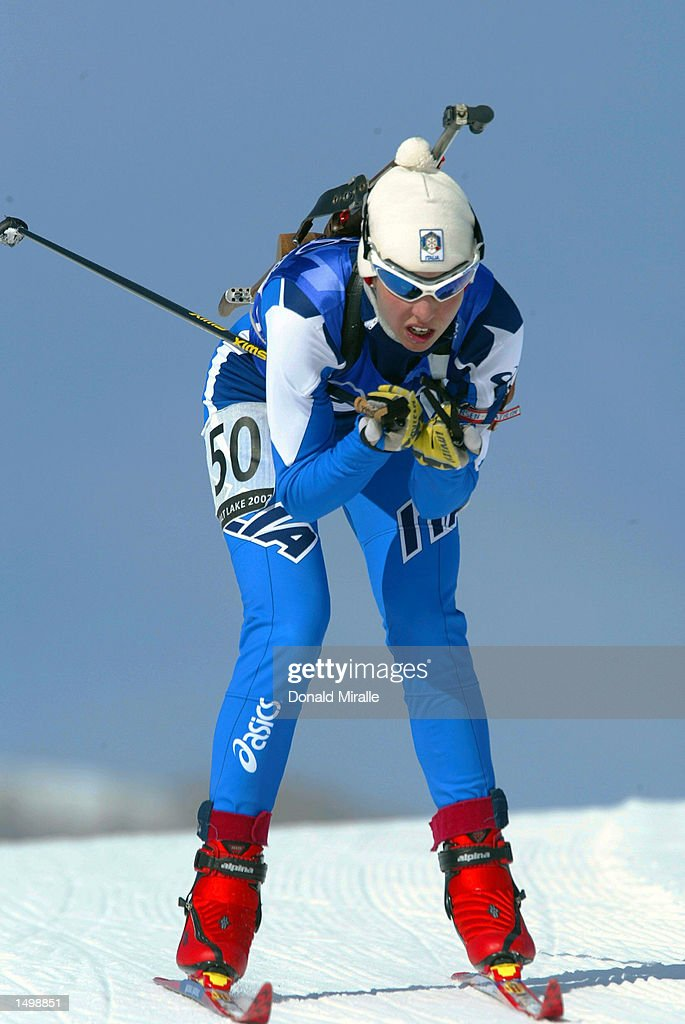 Michela Ponza of Italy competes in the women's 15km biathlon during the Salt Lake City Winter Olympic Games at Soldier's Hollow in Heber City Utah...