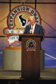 Team owner Bob McNair during the Texans Expension Draft at George R Brown Convention Center in Houston Texas DIGITAL IMAGE Mandatory Credit Ronald...