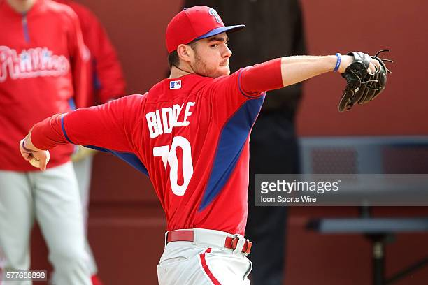 Jesse Biddle during the Phillies spring training workout at the Carpenter Complex in Clearwater Florida