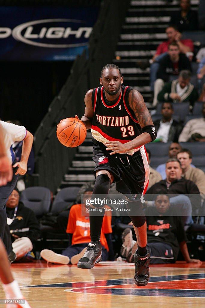 Feb 23, 2006; Charlotte, NC, USA; Portland Trailblazers DARIUS MILES, against Charlotte Bobcats at the Charlotte Bobcats. The Blazers won 91-83.